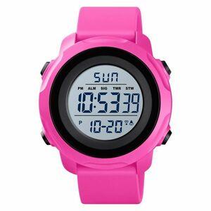 スポーツウォッチメンズウォッチレディース用高級ミリタリーデジタルウォッチ防水クロノ腕時計メンズレディースブレスレット Pink