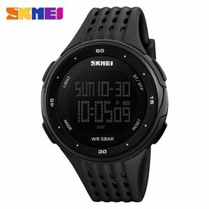 メンズスポーツウォッチ50m防水デジタルLEDミリタリーウォッチアウトドアエレクトロニクス腕時計 black