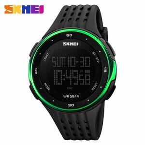 メンズスポーツウォッチ50m防水デジタルLEDミリタリーウォッチアウトドアエレクトロニクス腕時計 green