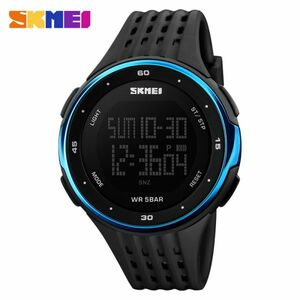 メンズスポーツウォッチ50m防水デジタルLEDミリタリーウォッチアウトドアエレクトロニクス腕時計 blue