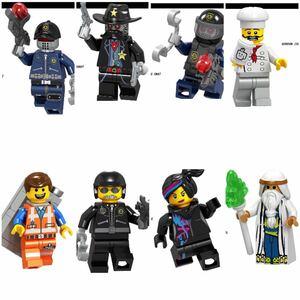 翌日発送 エミット ルーシー レゴ 互換 ミニフィグ ムービー LEGO 互換 ブロック ミニフィギュア 8体セット j