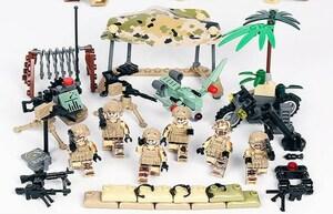 夜戦部隊 武器つきセット 戦争軍人軍隊マンミニフィグ LEGO 互換 ブロック ミニフィギュア レゴ 互換t14