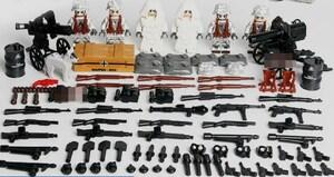 野戦部隊 武器つきセット 戦争軍人軍隊マンミニフィグ LEGO 互換 ブロック ミニフィギュア レゴ 互換t15