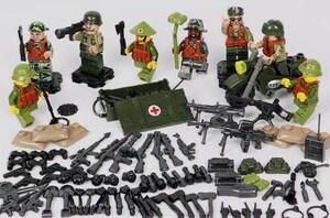 8体 武器つきセット 戦争軍人軍隊マンミニフィグ LEGO 互換 ブロック ミニフィギュア レゴ 互換t29