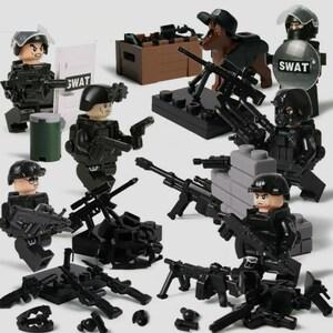 swat部隊6体 武器つき戦争軍人軍隊マンミニフィグ LEGO 互換 ブロック ミニフィギュア レゴ 互換t38