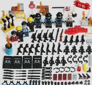 警察8体 武器つきセット 戦争軍人軍隊マンミニフィグ LEGO 互換 ブロック ミニフィギュア レゴ 互換t34
