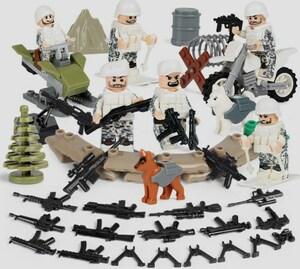 軍人6体 武器つきセット 戦争軍人軍隊マンミニフィグ LEGO 互換 ブロック ミニフィギュア レゴ 互換t35