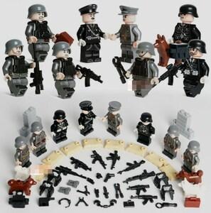 第二次世界大戦 ドイツ 武器つきセット 戦争軍人軍隊マンミニフィグ LEGO 互換 ブロック ミニフィギュア レゴ 互換t10
