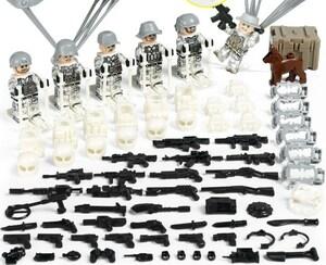 軍人6体 武器つきセット 戦争軍人軍隊マンミニフィグ LEGO 互換 ブロック ミニフィギュア レゴ 互換t33