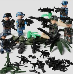 6体 武器つきセット 戦争軍人軍隊マンミニフィグ LEGO 互換 ブロック ミニフィギュア レゴ 互換t28