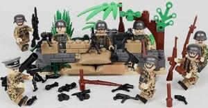 野戦部隊 武器つきセット 戦争軍人軍隊マンミニフィグ LEGO 互換 ブロック ミニフィギュア レゴ 互換t19