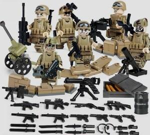 野戦部隊 武器つきセット 戦争軍人軍隊マンミニフィグ LEGO 互換 ブロック ミニフィギュア レゴ 互換t18