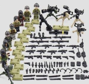 野戦部隊 武器つきセット 戦争軍人軍隊マンミニフィグ LEGO 互換 ブロック ミニフィギュア レゴ 互換t16