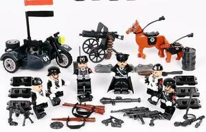 第二次世界大戦 ドイツ 車両武器つきセット 戦争軍人軍隊 コミックバットマンミニフィグ LEGO 互換 ブロック ミニフィギュア レゴ 互換