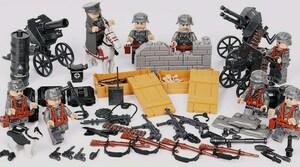 第二次世界大戦 ドイツ 武器つきセット 戦争軍人軍隊マンミニフィグ LEGO 互換 ブロック ミニフィギュア レゴ 互換t01