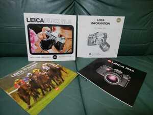 * free shipping valuable goods Leica single‐lens reflex catalog 3 point other Leica Flex SL2/ Leica R4S/ Leica R lens /LEICA INFORMATION(2) Japanese edition *