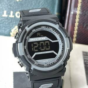 SKECHERS スケッチャーズ 腕時計 ブラック アラーム ストップウォッチ タイマー デジタル 未使用に近い 稼動品 W1964
