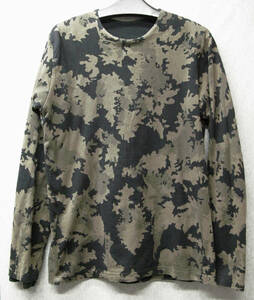 ワイズ フォーメン ヨウジヤマモト:迷彩柄 二重 カットソー ( ロンT スウェット Y's for Men Yohji Yamamoto Double camouflage Tee