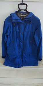 アウトドア 青 ブルー メッシュ 袖先微調整可能 マウンテン パーカー カジュアル M 美品 キャンプ