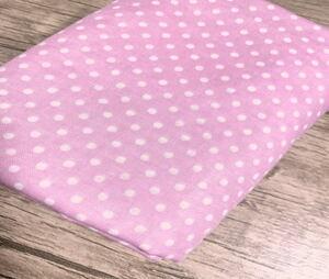 ダブルガーゼ ピンドット柄 女の子生地 ガーゼ*送料無料*2mカット ピンク