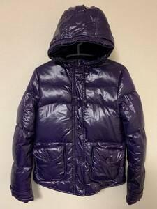 H&M DIVIDED ダウンジャケット パープル Mサイズ 美品 送料無料 紫 光沢 ダウンパーカ ダウンコート エイチアンドエム ディヴァイデッド