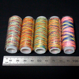 新品未使用 ミシン糸 レインボー 5本セット 普通地用 各110m 送料無料
