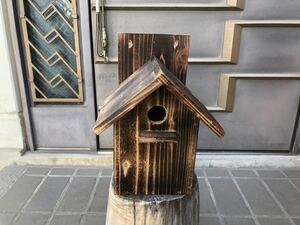小鳥 野鳥 鳥小屋 巣箱 ガーデニング アンティーク