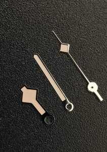 腕時計 修理交換用 針 ハンドセット シルバー×日焼け 退色 イカ 【対応】SEIKO 7S26/7S36/NH35/4R36 セイコー 社外品