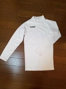ハイネック長袖アンダーシャツ hummel 白 サイズ140