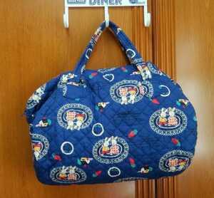 【ハンドメイド品】うさぎちゃん柄筒型バッグ