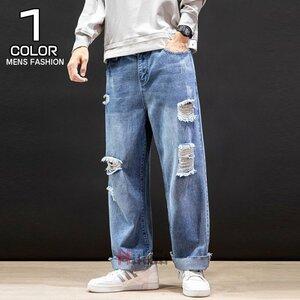デニムパンツ メンズ ダメージジーンズ ジーンズ ボトムス ジーンズ メンズ ダメージパンツ デニムパンツ ロングパンツ ズボン ボトムス