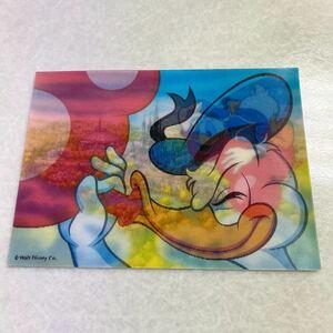 TDL 東京ディズニーランド ドナルドダック 角度で絵が変わるポストカード