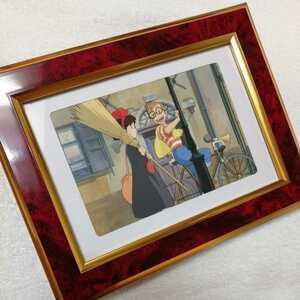 超レア! スタジオジブリ 魔女の宅急便【30年前当時物】ポストカード 額装品 ジブリカード 複製原画.宮崎駿 キキ ジジc
