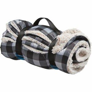 送料無料 新品 白黒 RUMPL Sherpa Printed Puffy Blanket El Cap Buffalo Plaid ランプル シェルパ パフィー ブランケット キャンプ