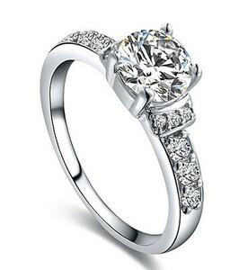 ダイヤモンド リング 憧れの最上級 可愛い 新品 13石 ;【'。】【 厳選特価】最安 通常価格5万 即決 選べるサイズ 指輪 3#プラチナ仕上#