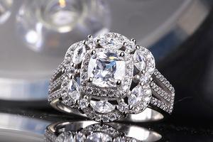 ダイヤモンド リング 新品 高純度 99石 最安 【】【】 真の輝き 通常価格5万 即決 選べるサイズ 指輪 #プラチナ仕上# L38