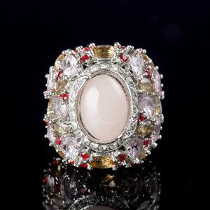 ピンクダイヤモンド リング 新品 72石 ■極上逸品■ ''【】 最安 真の輝き 通常価格5万 即決 選べるサイズ 指輪 47#プラチナ仕上#