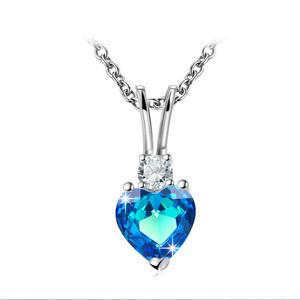 新品 高純度 憧れの最上級 最安 真の輝き ・。、 通常価格5万 即決 サファイアダイヤモンド ペンダント ネックレス 14#プラチナ仕上#