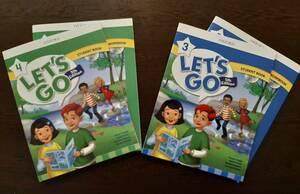 Let's Go 5th edition level 3 and 4 Student Books and Workbooks with CD-ROM (4 Books).