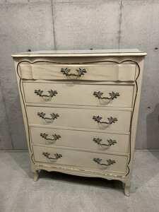 ヴィンテージ ミルクペイント ウッド ドレッサー アメリカ家具 木製 インテリア コレクション 収納