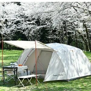 【良コスパ】 4~5人用 山善 キャノピー テント / キャンプ ツーリング アウトドア 前室 キャンパー
