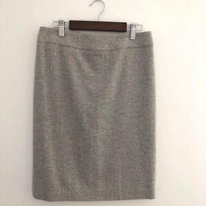 【お値下げ】美品 未使用 OFUON グレー スカート お仕事 上品ラメ 日本製  タイトスカート