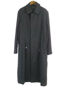 Yohji Yamamoto POUR HOMME ヨウジヤマモト プール オム 19AW ロゴ刺繍ウールコート ブラック 2 メンズ