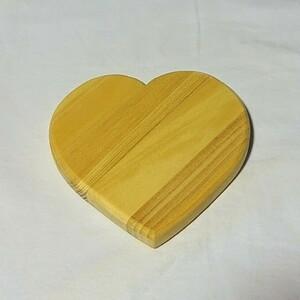 ハート 木製 看板 鍋敷き / トールペイント 素材
