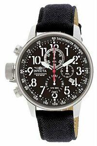 インビクタ 1512 フォース クォーツクロノグラフブラック ゴールドアーミー レザー革腕時計 クロノグラフウォッチ 逆輸入海外限定 Invicta