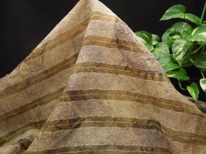 新入荷!掘り出し品!イタリー製!高級ブランドオリジナル!なかなか手に入らない!上質シルク&ポリ!透かし織りウワッシャー150cm巾×2m