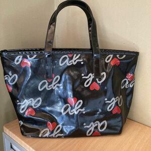 更に値下げ アニエスベー ボヤージュ 総ロゴモノグラムビニールトートバッグ