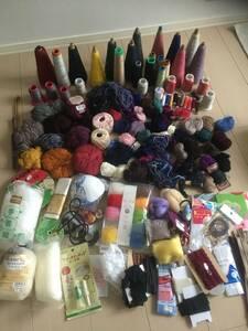 手芸用品 まとめて 毛糸 ミシン糸 裁縫 ハンドメイド 材料 手芸用品 大量 保管品 工作 材料