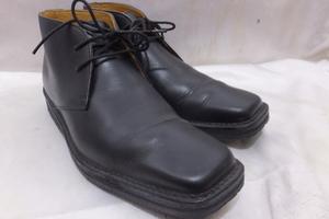 REGAL リーガル スクウェアトゥ チャッカブーツ Y462AC 24.5cm ブラック 黒 2ホール