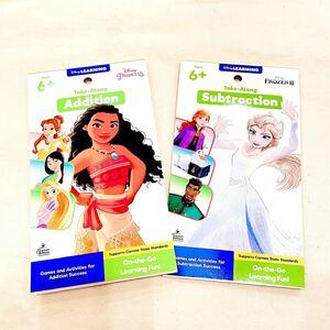 新品/ディズニープリンセス 英語絵本 ワークブック アナと雪の女王 美女と野獣リトルマーメイド FROZEN アナ雪